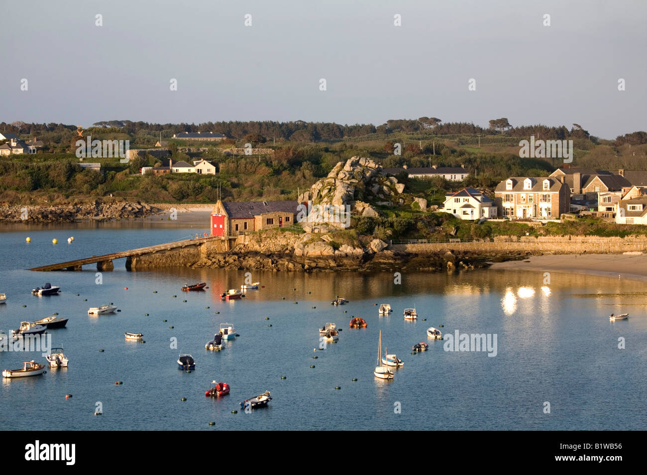 lifeboat station hugh town st marys Isles of Scilly - Stock Image