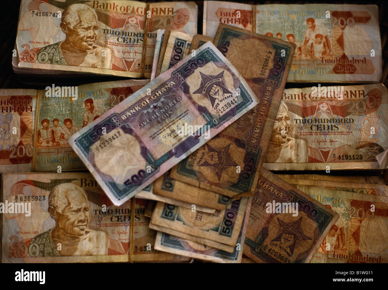 Ghana West Africa Money Ghanaian Currency Cedi Bank Notes
