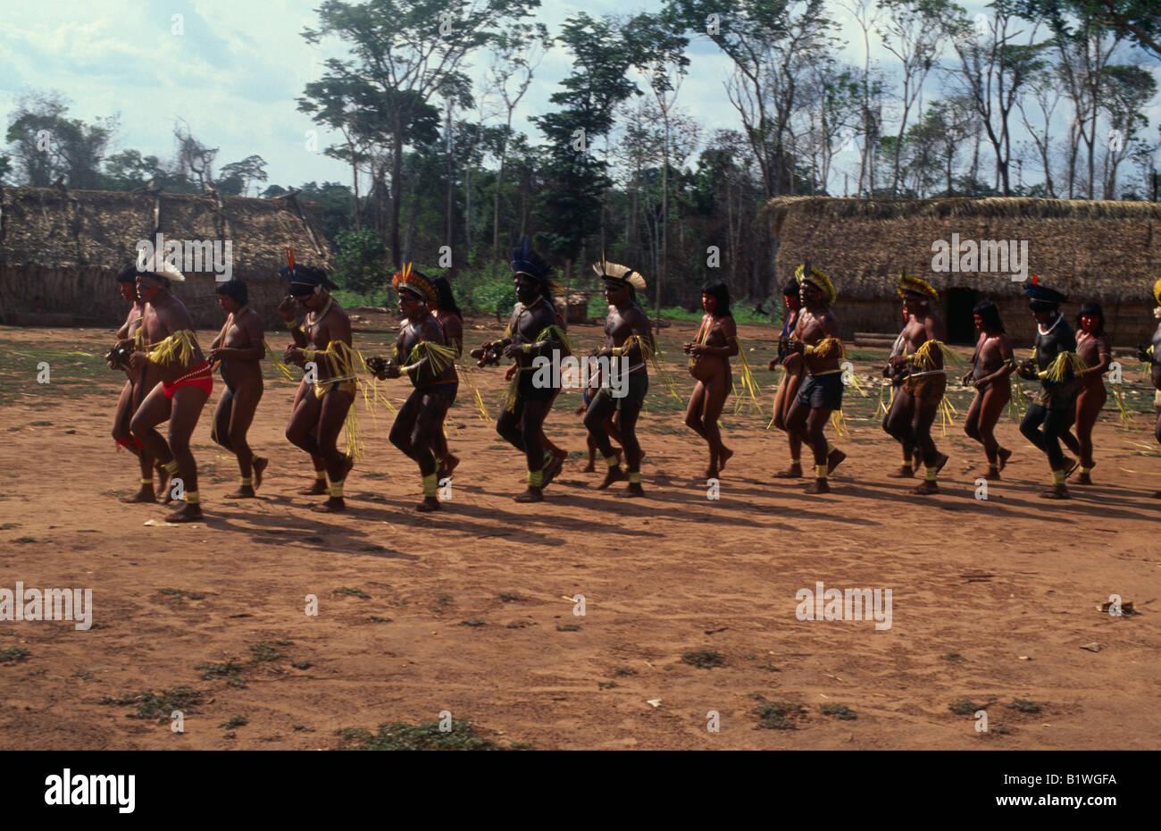Xingu indians in the Amazone, Brazil Stock Image | x4j