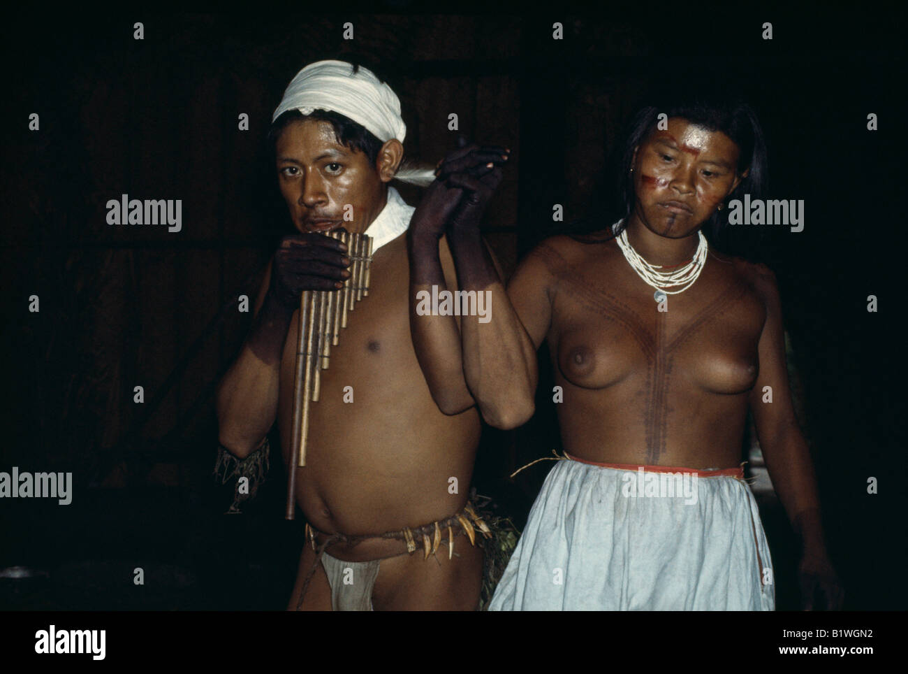 COLOMBIA North West Amazon Tukano Indigenous People - Stock Image