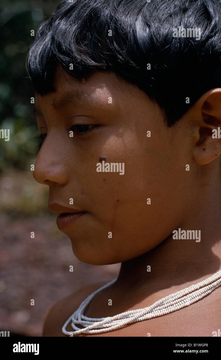 COLOMBIA North West Amazon Tukano Indigenous People - Stock Image