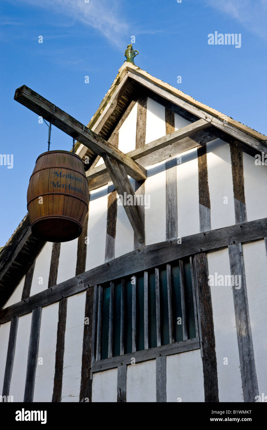 13th Century Medieval Merchants House in Southampton, Hampshire, England - Stock Image