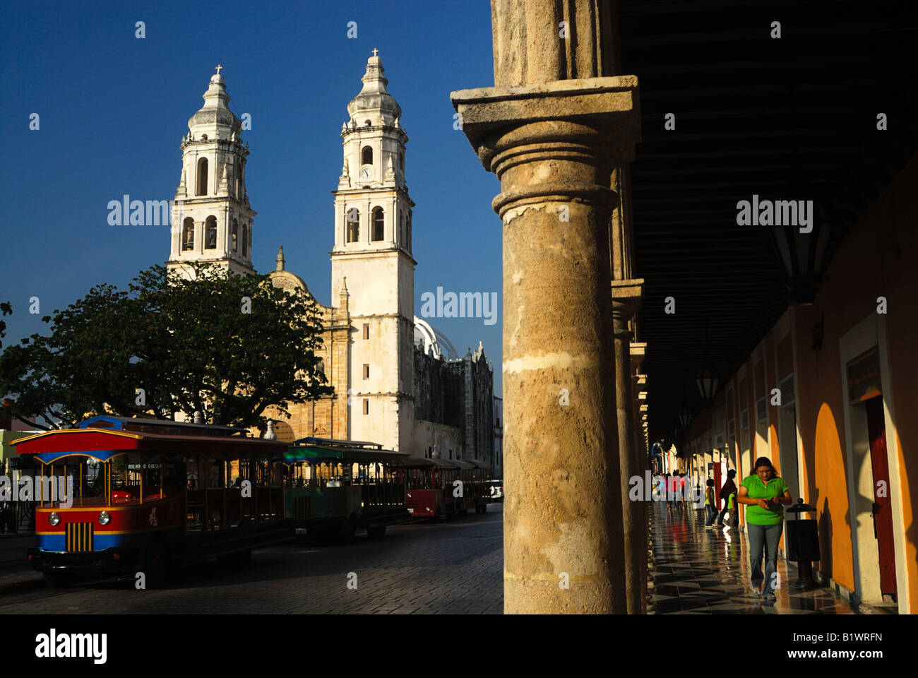 The Campeche Cathedral, Yucatan, Mexico Stock Photo