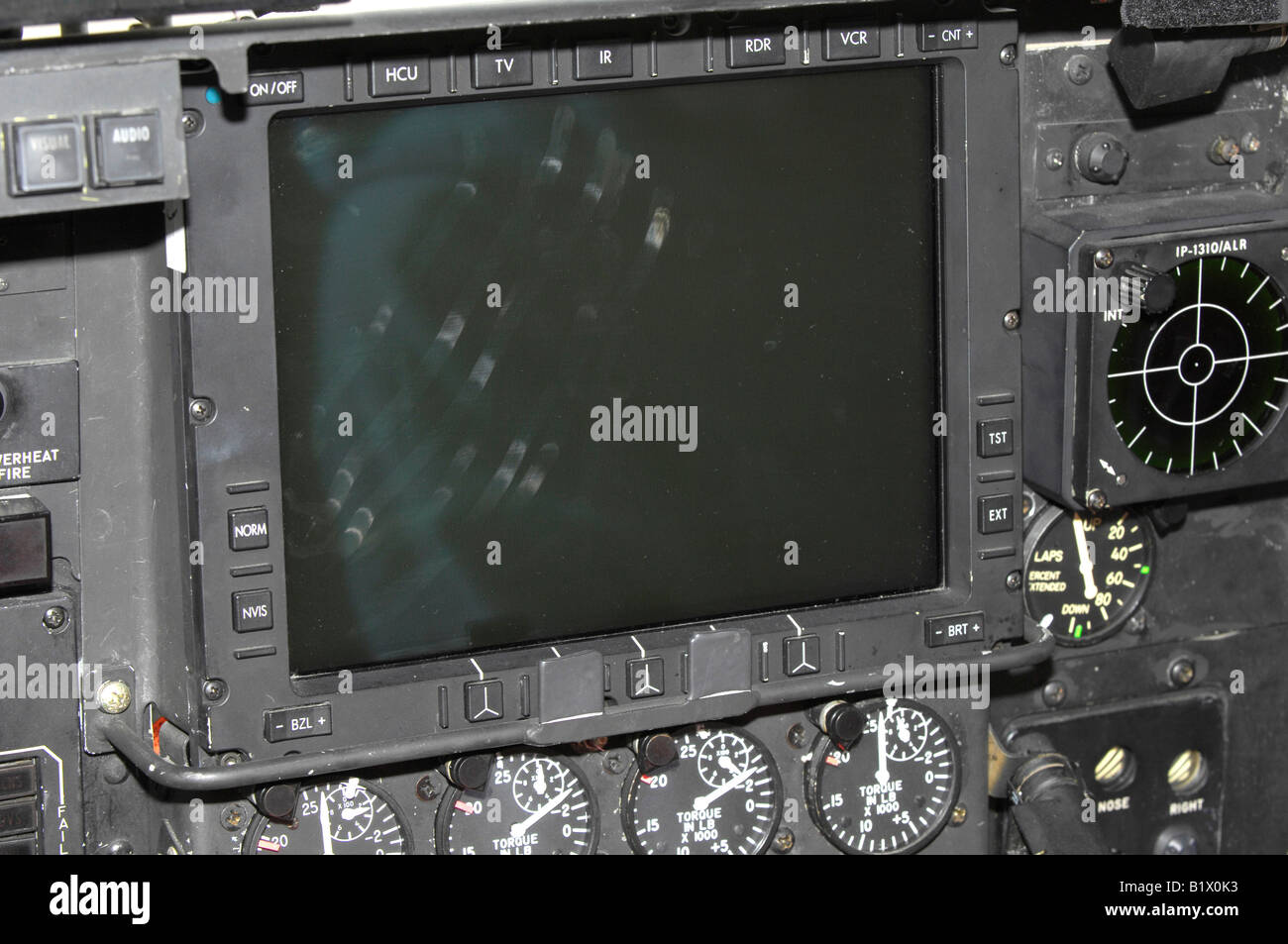 Aircraft multifunction display. - Stock Image