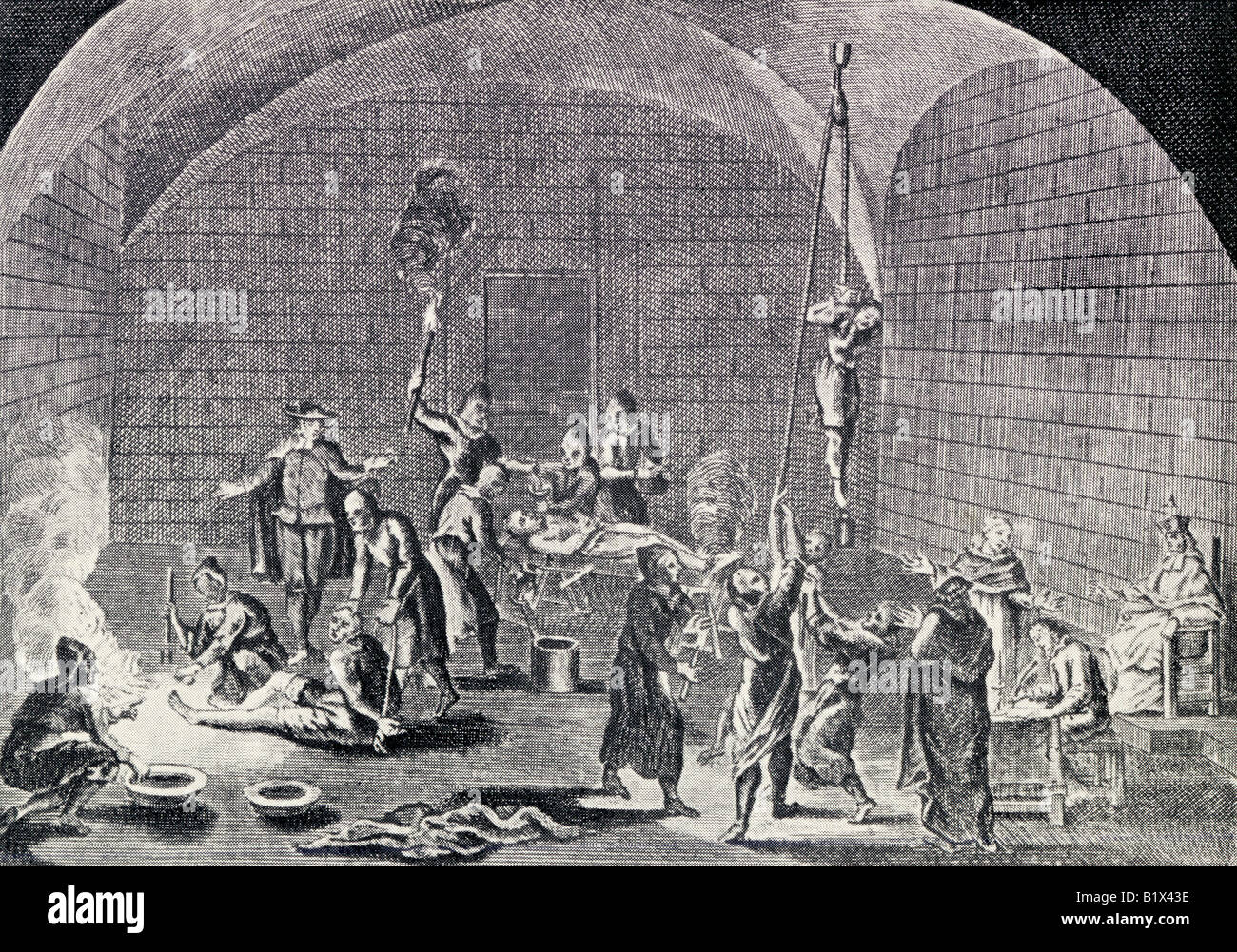 The Torture Chamber of the Spanish Inquisition - Stock Image