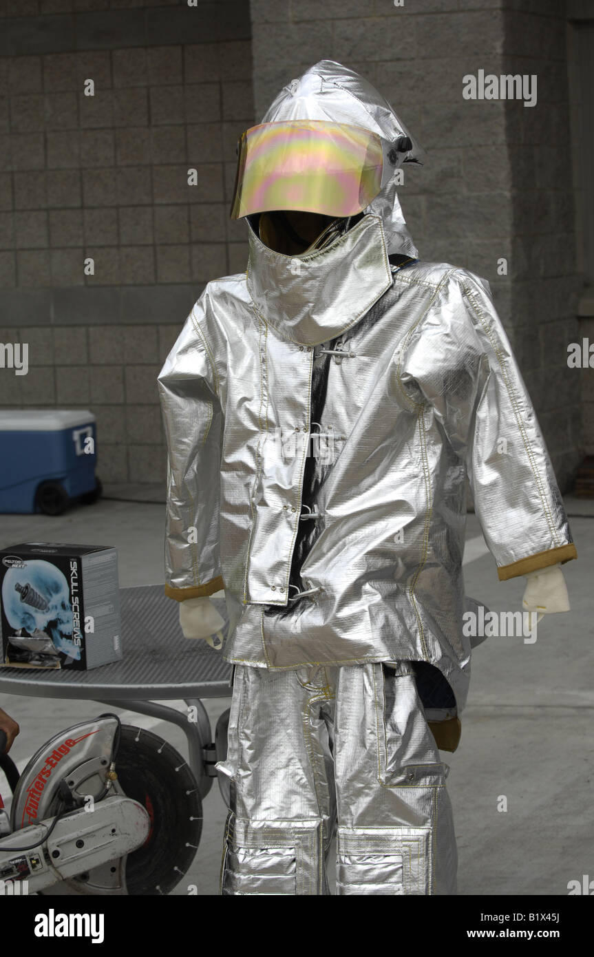 Silver Fire Rescue Protection Suit Safety Equipment