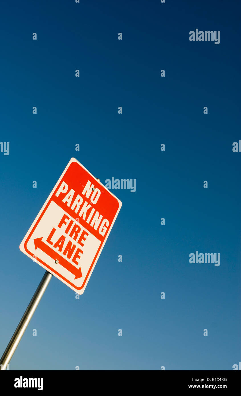 No Parking Fire Lane Sign Stock Photo