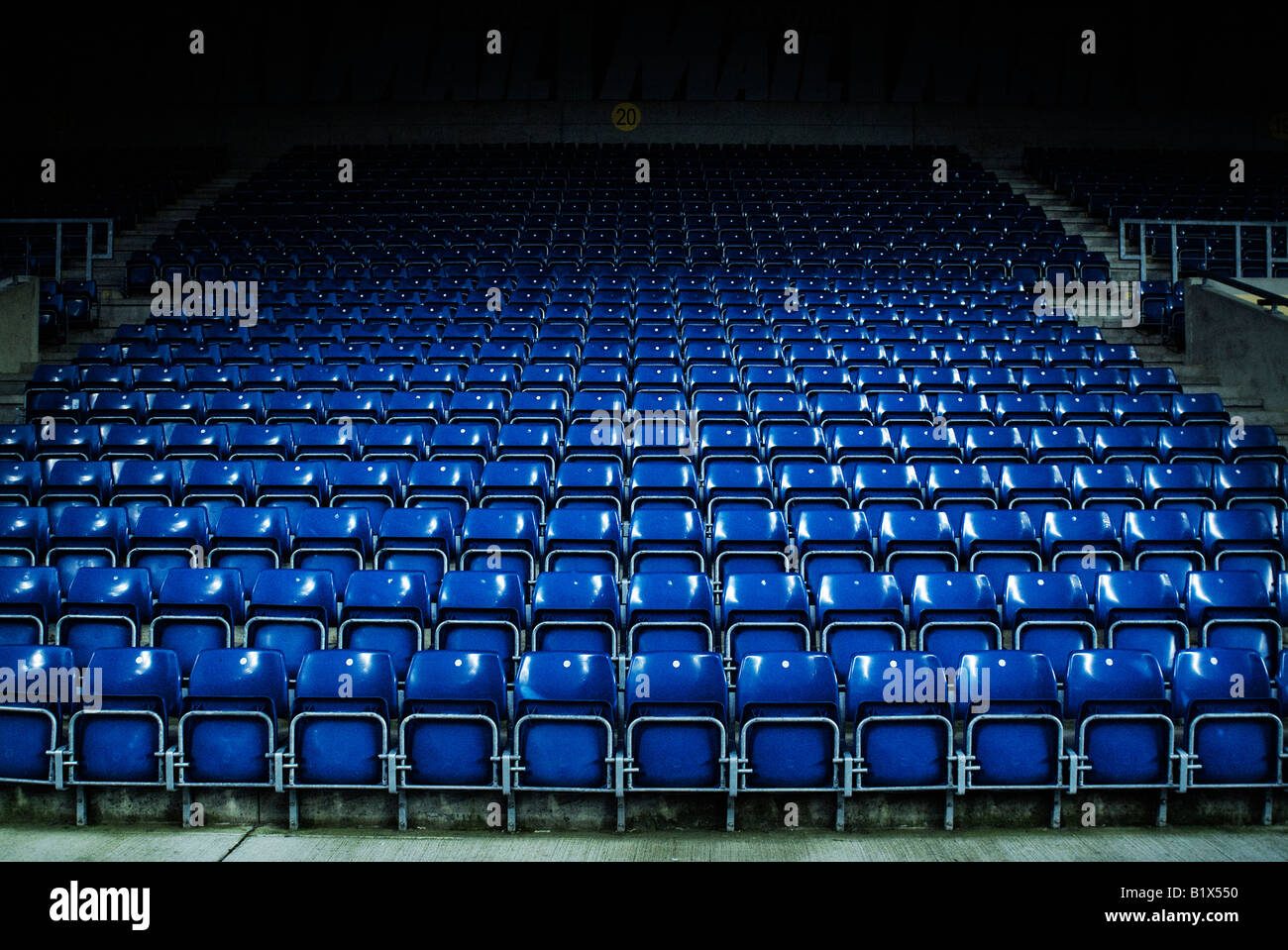 Oxford United Football Club seating stand - Stock Image