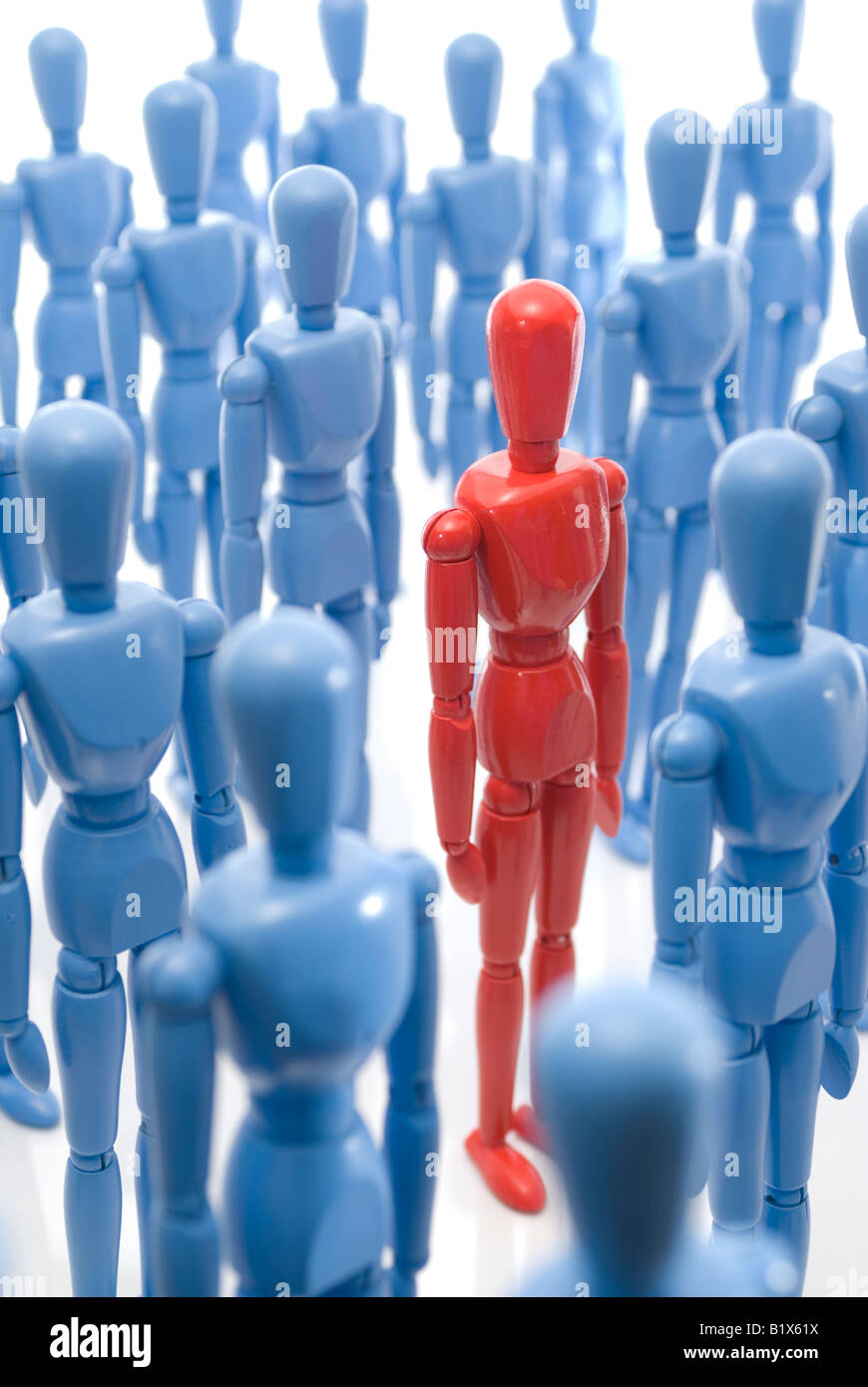 Standing out in the crowd - Stock Image