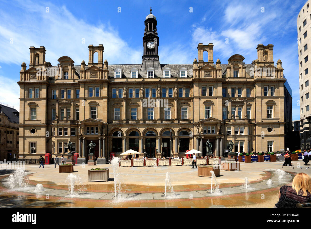 The Old Post Office, City Square, Leeds, West Yorkshire, England, UK. Stock Photo
