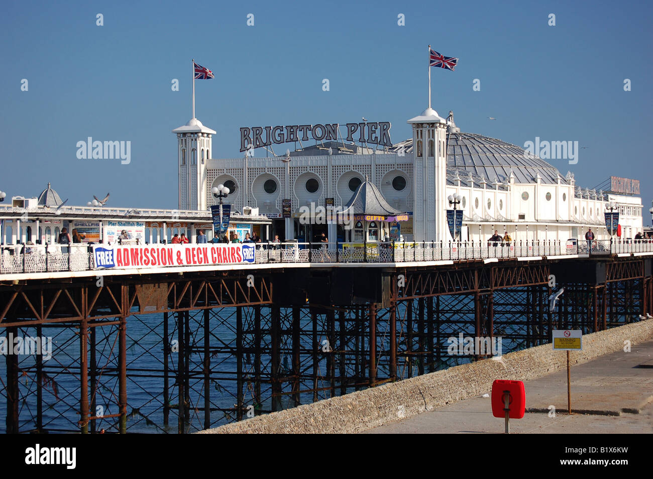 Brighton Pier, East Sussex, England - Stock Image