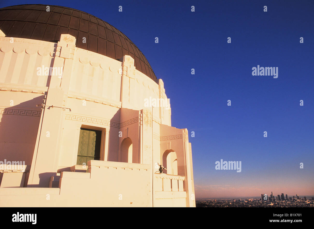 Griffith Park Observatory in Los Angeles California - Stock Image
