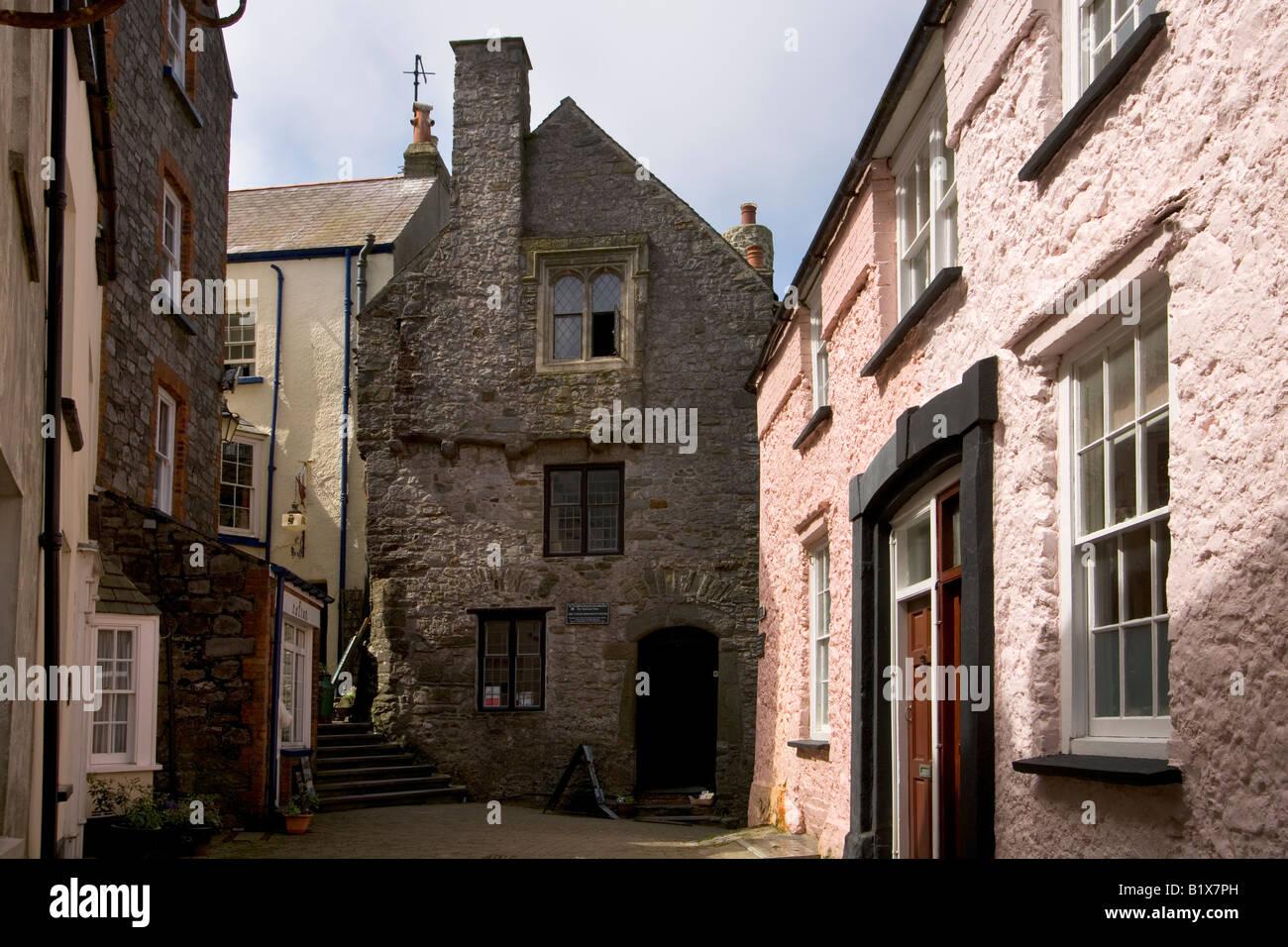 Tudor Merchants House, Tenby, Pembrokeshire, Wales, UK - Stock Image