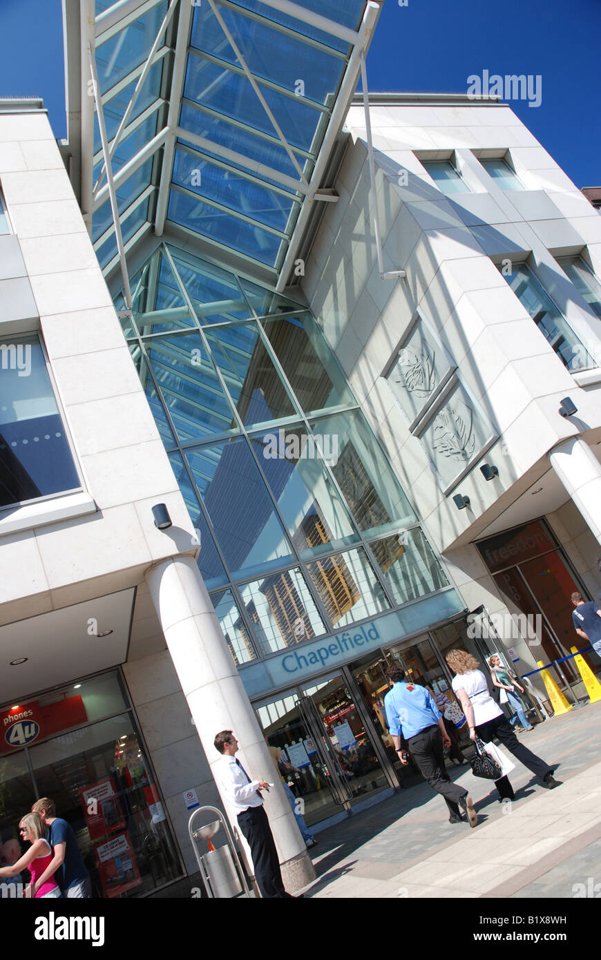Entrance to Chapelfield Shopping Mall, Norwich - Stock Image