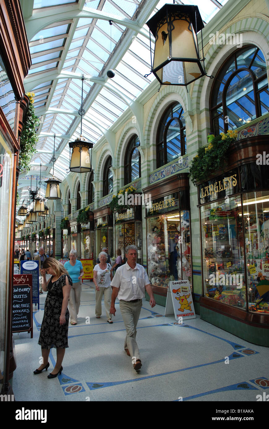 The Royal Arcade, Norwich, Norfolk - Stock Image