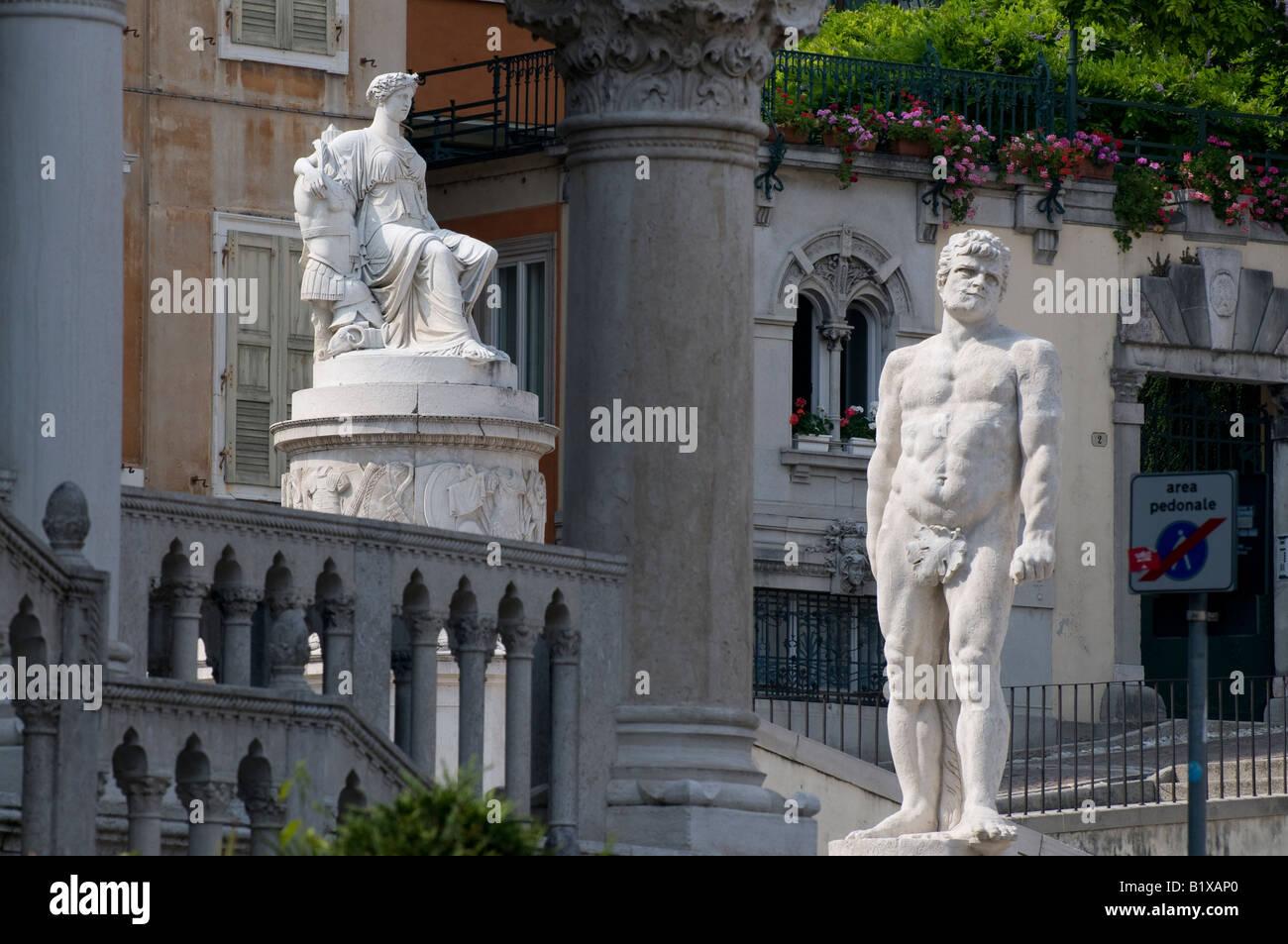 Piazza Liberta square - Udine Friuli Italy - Stock Image
