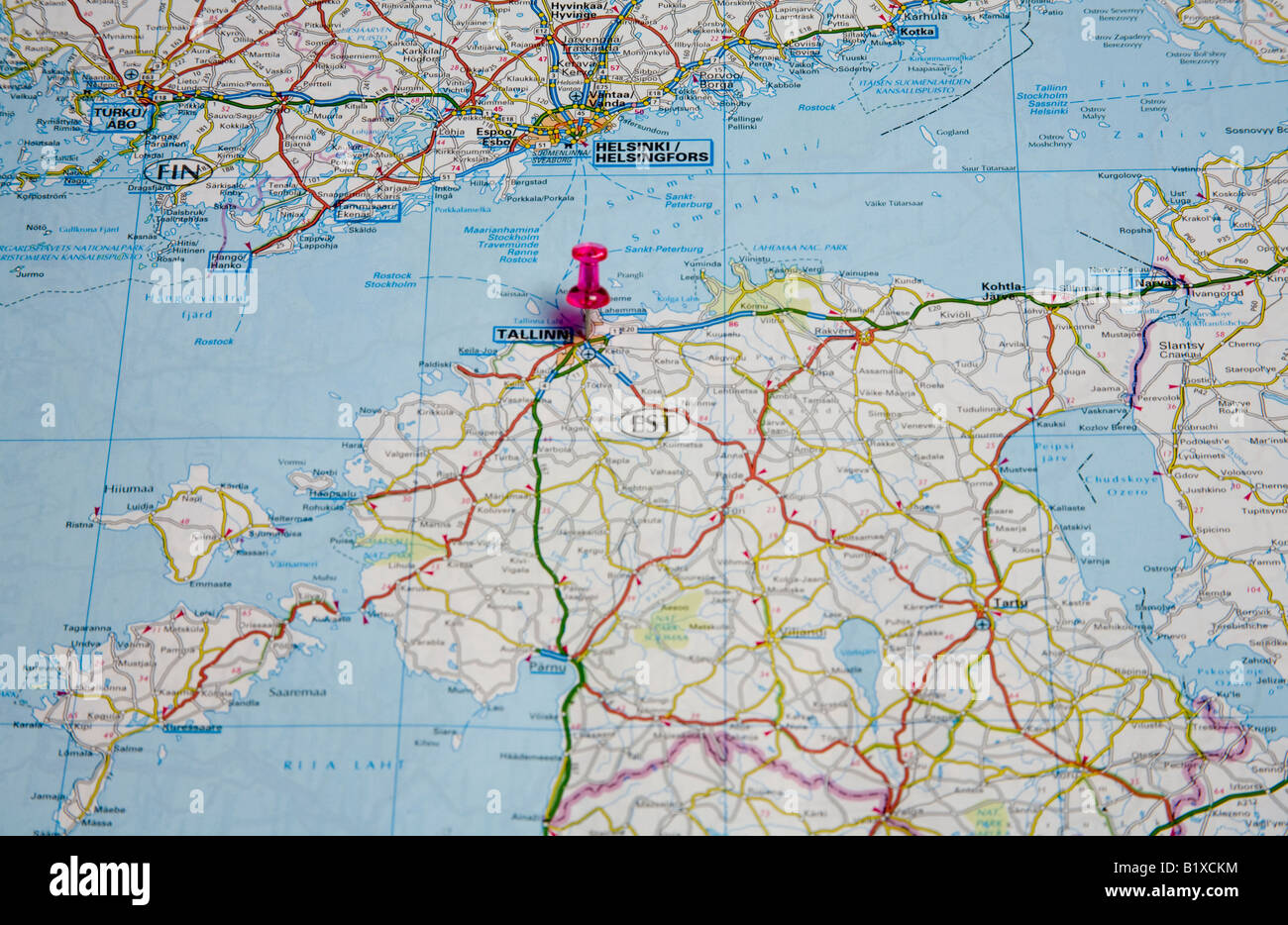 Norway On Europe Map.Road Map Of Oslo Norway Europe Stock Photo 18405736 Alamy
