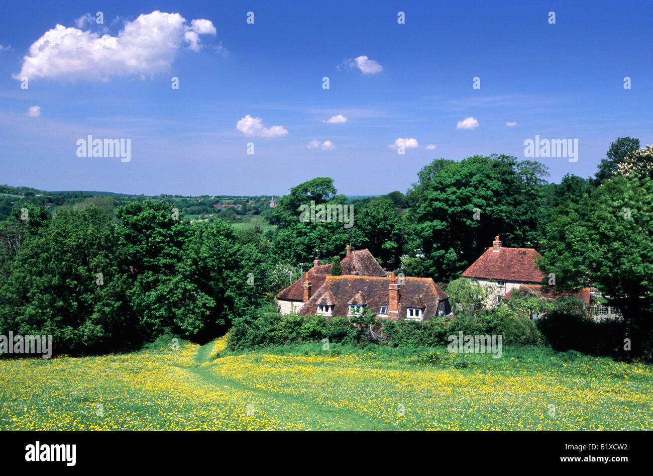 Rustic view at Litlington South Downs East Sussex - Stock Image