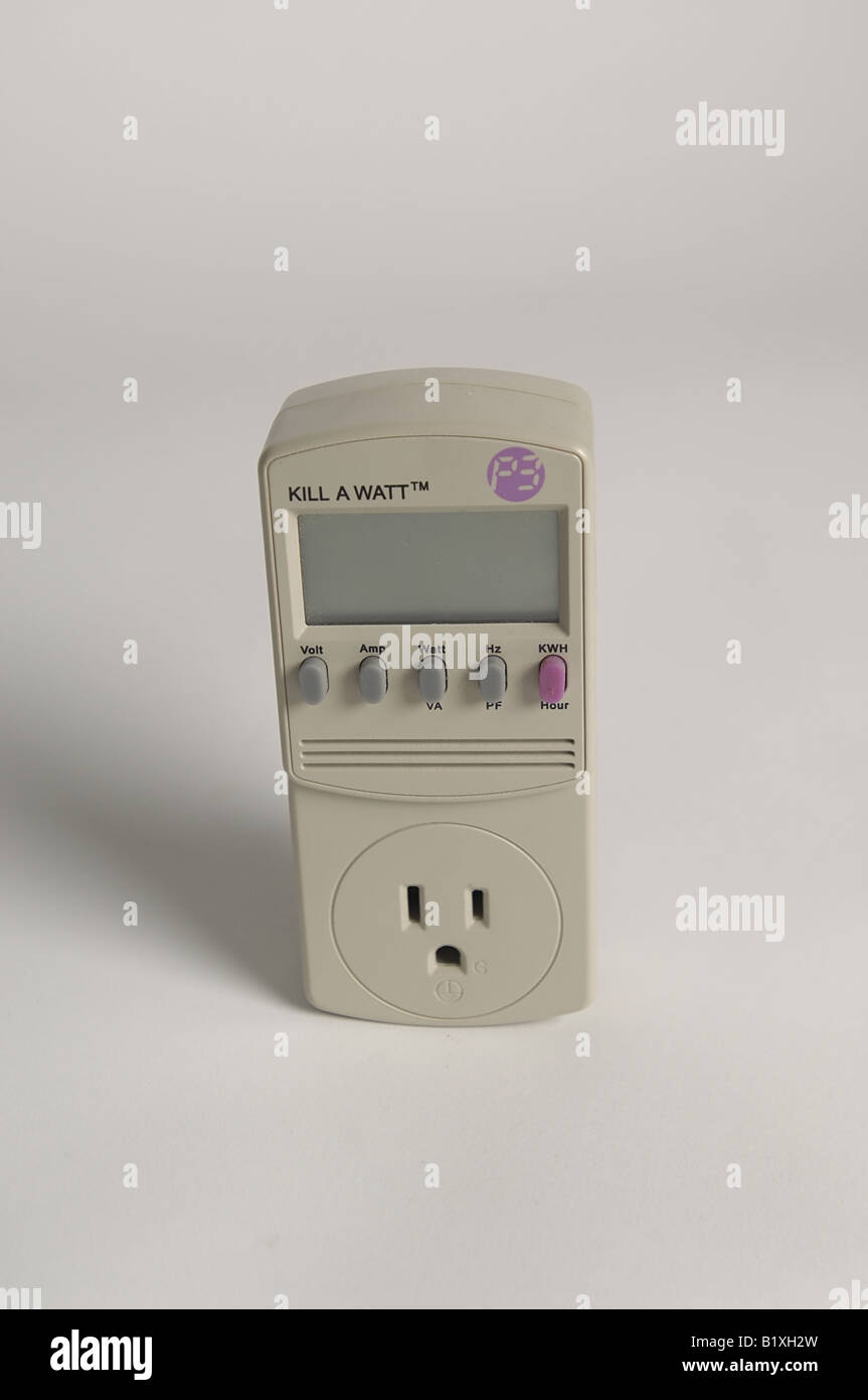 tool to monitor electricity usage and calculate the cost. - Stock Image