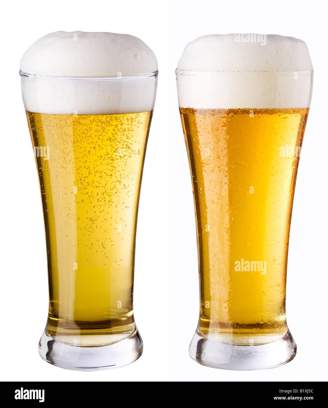 Light beer - Stock Image