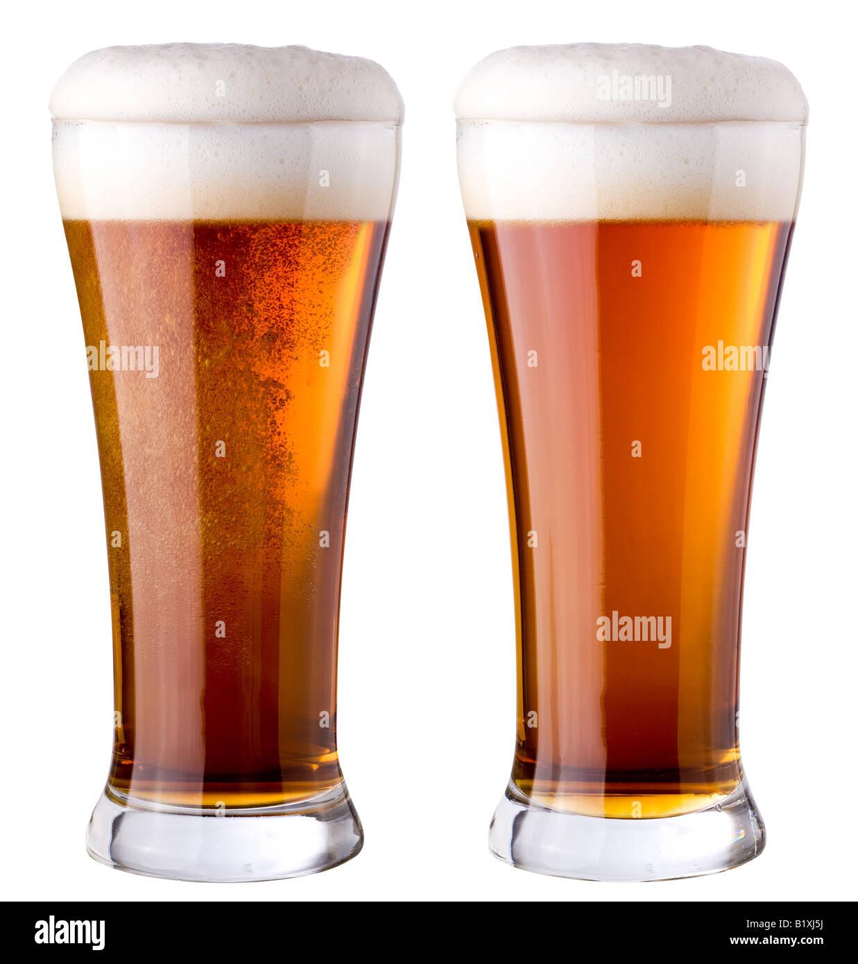 Dark beer - Stock Image