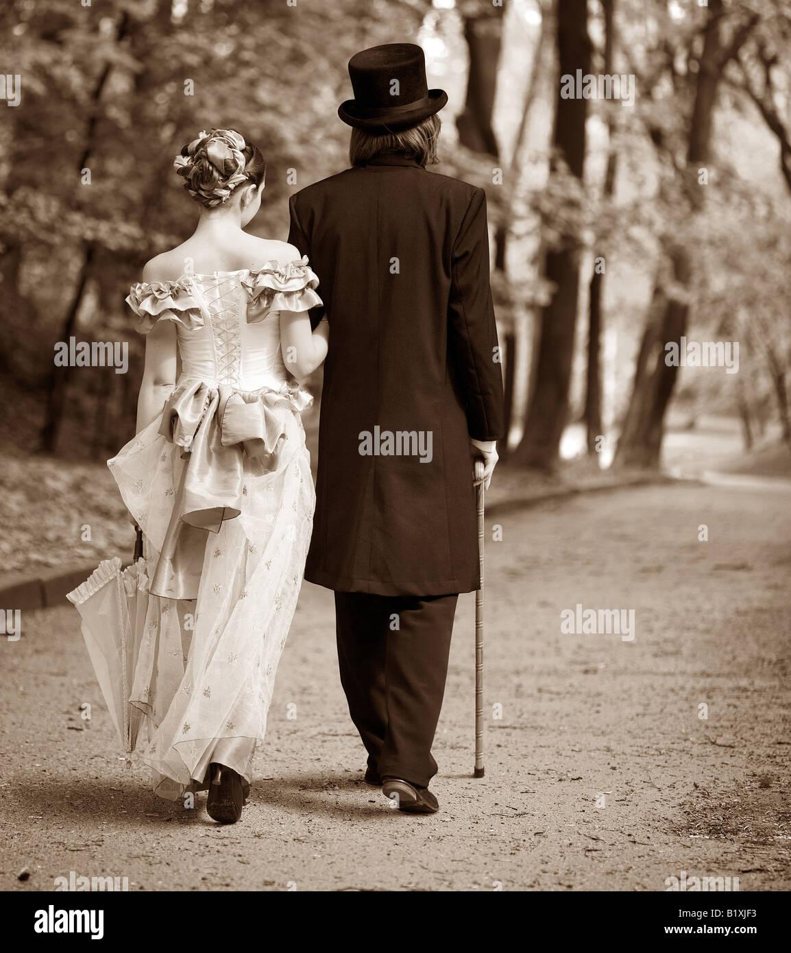 gentleman lady - Stock Image