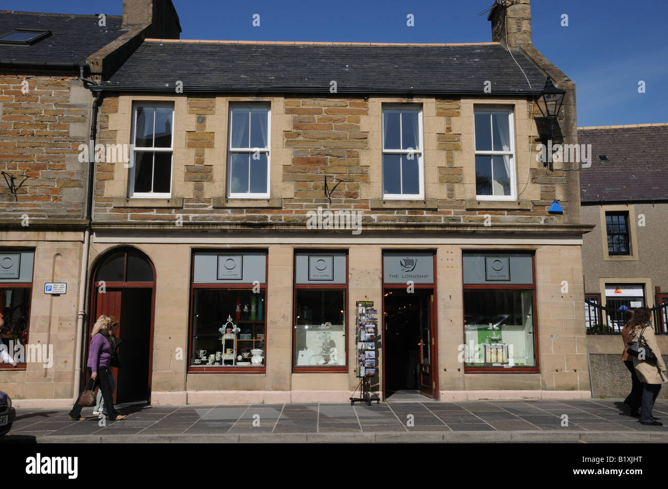 The Longship store in Kirkwall, Orkney sells Ola Gorie's jewelry and other crafts. - Stock Image