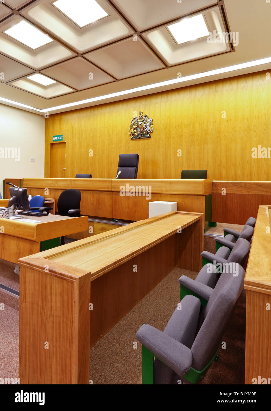 Courtroom Oxford - Stock Image