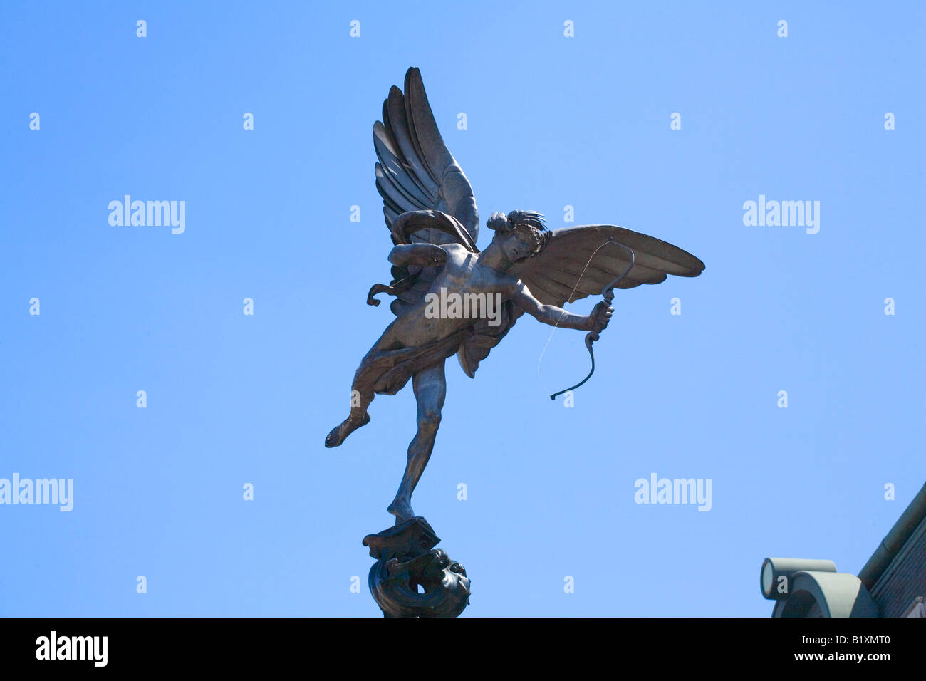 The Statue of Eros at Piccadilly in LOndon - Stock Image