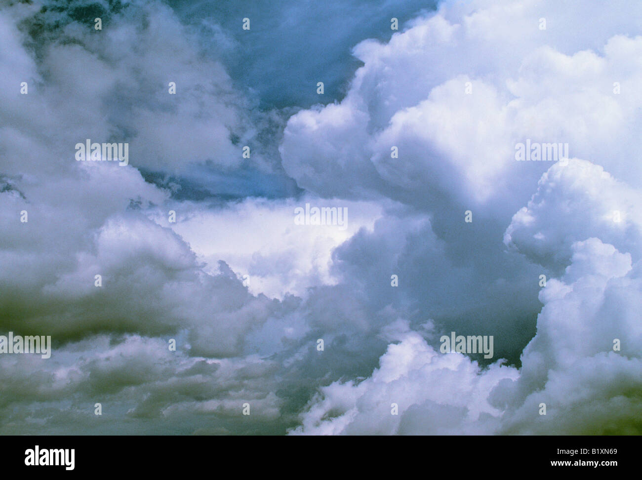 Storm Clouds Dramatic Sky Cloudy Day Sandra Baker New Mexico - Stock Image