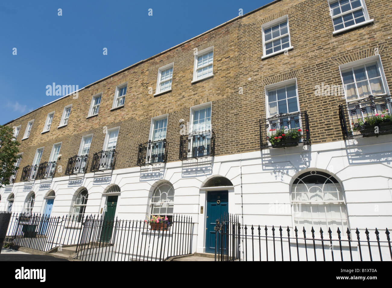 Typical Terrace Houses Islington London - Stock Image