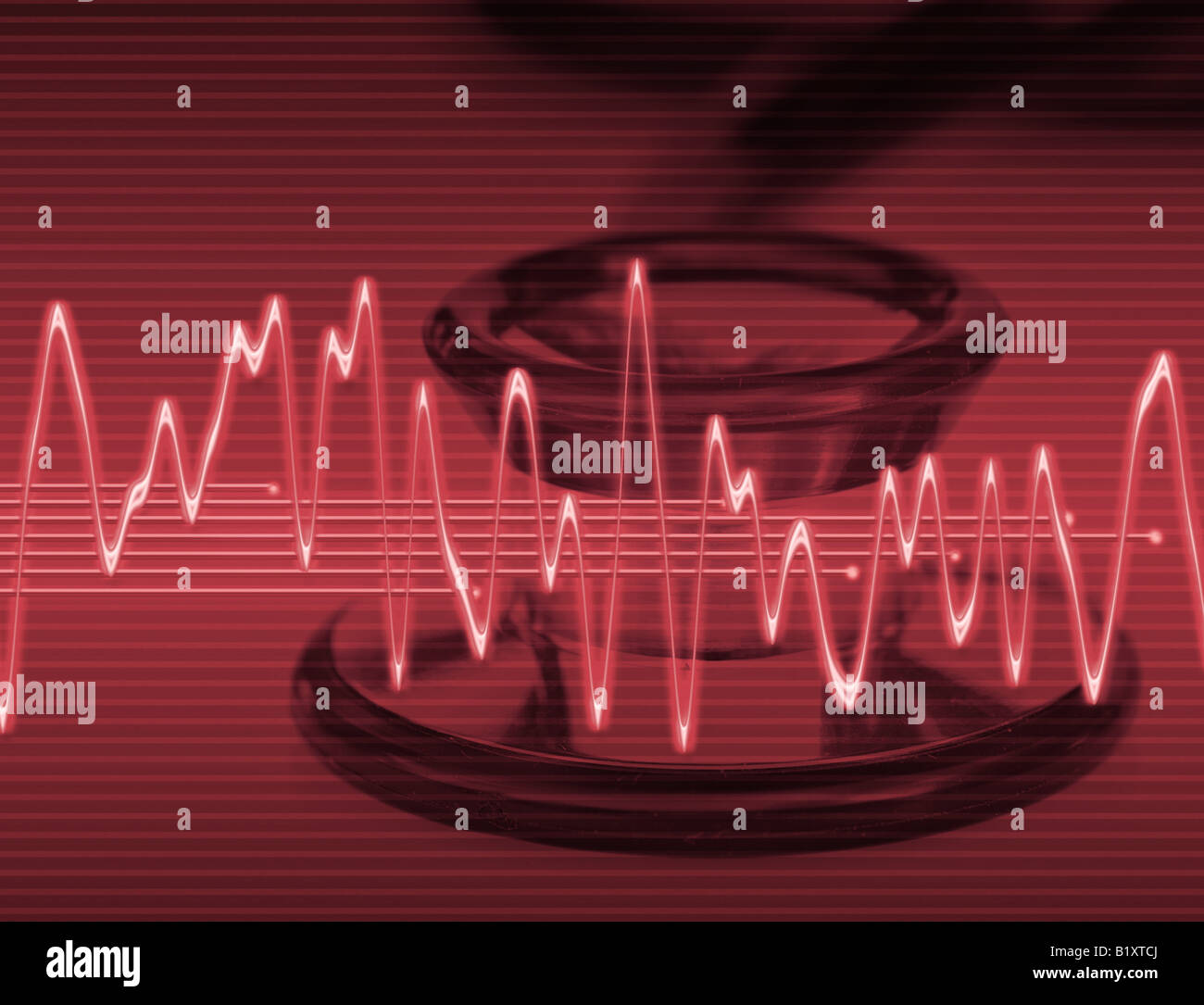 large abstract image for medical technology or trauma - Stock Image