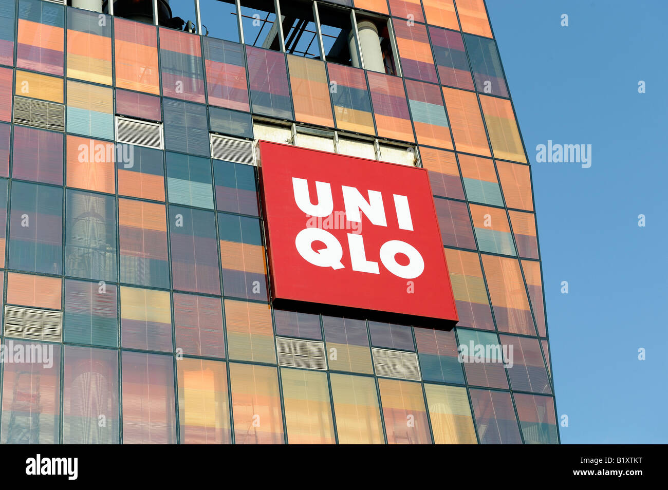 Uni Qlo store in Beijing, China. 06-Jul-2008 - Stock Image