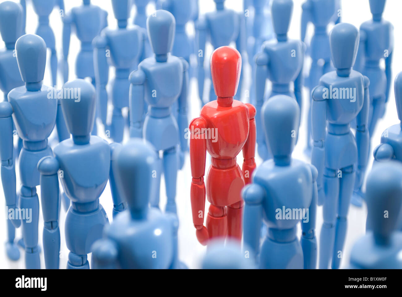 Standing out in the crowd. - Stock Image