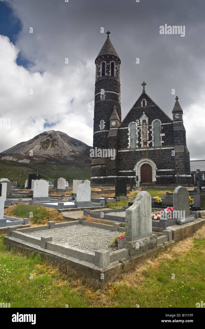 Dunlewy Church, Co Donegal. - Stock Image