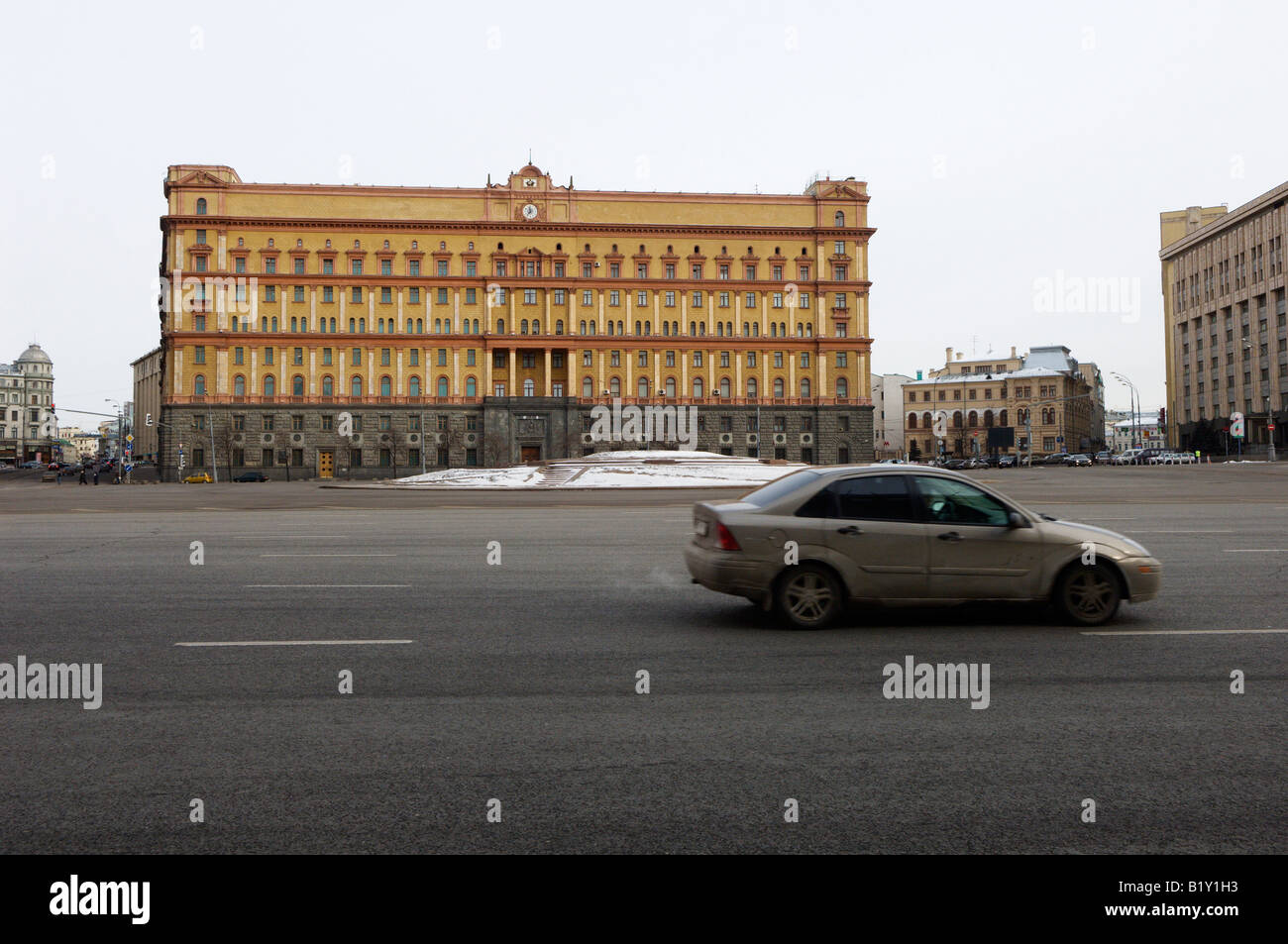 KGB Building Lubyankskaya Square Moscow Russia Stock Photo