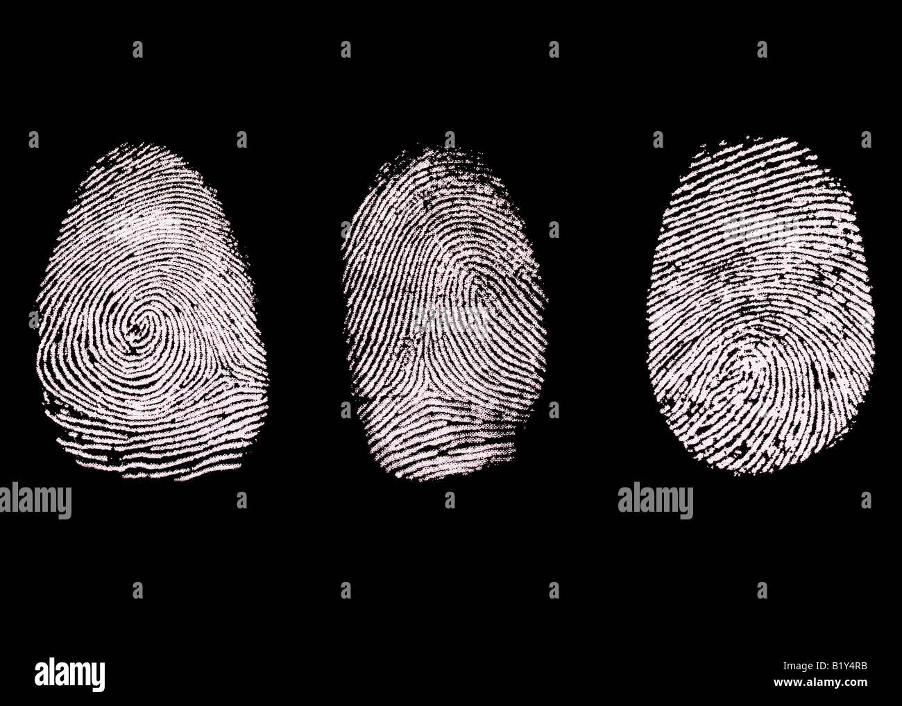 Fingerprints - Stock Image