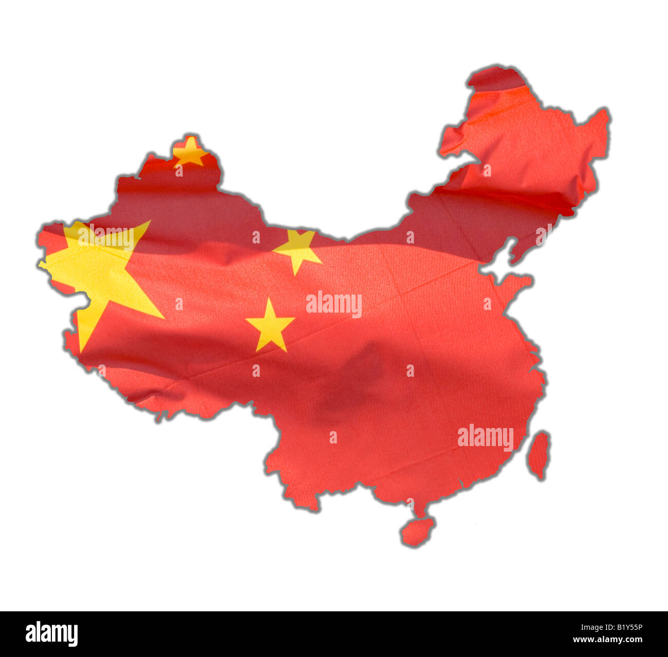 Map Outline Of China Cutout Dropout Stock Photo 18421810 Alamy