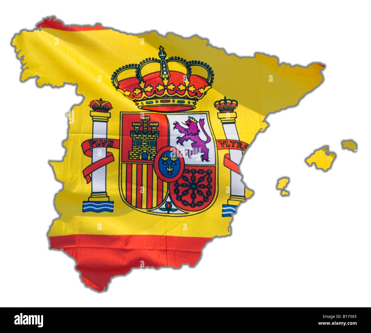 Map Outline of Spain - Stock Image