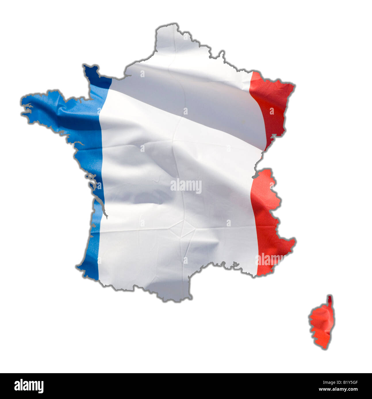 Map Outline Of France And Corsica Stock Photo 18422111 Alamy