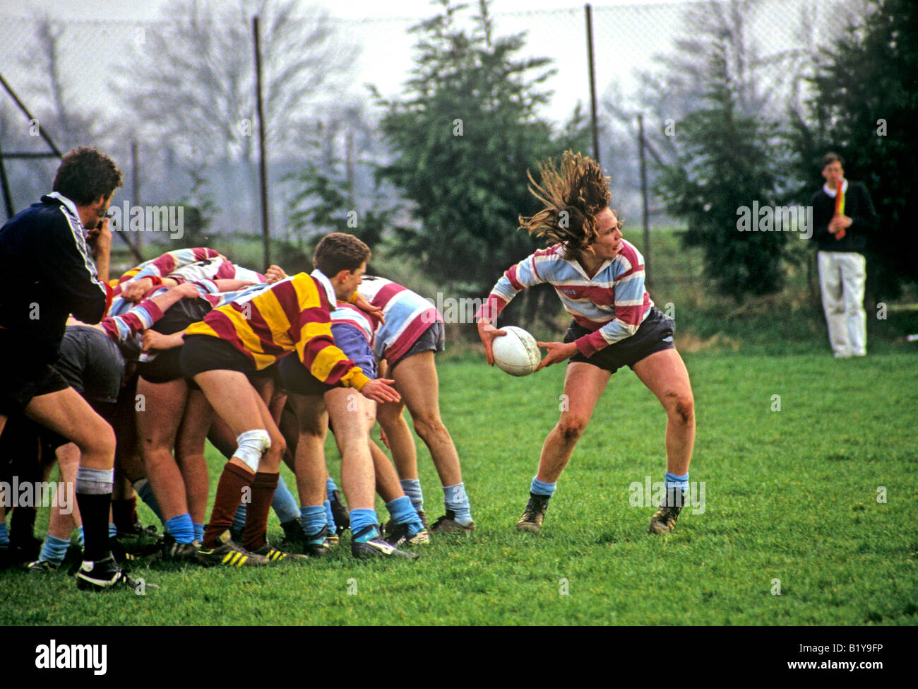 0847 Schoolboy Rugby England - Stock Image