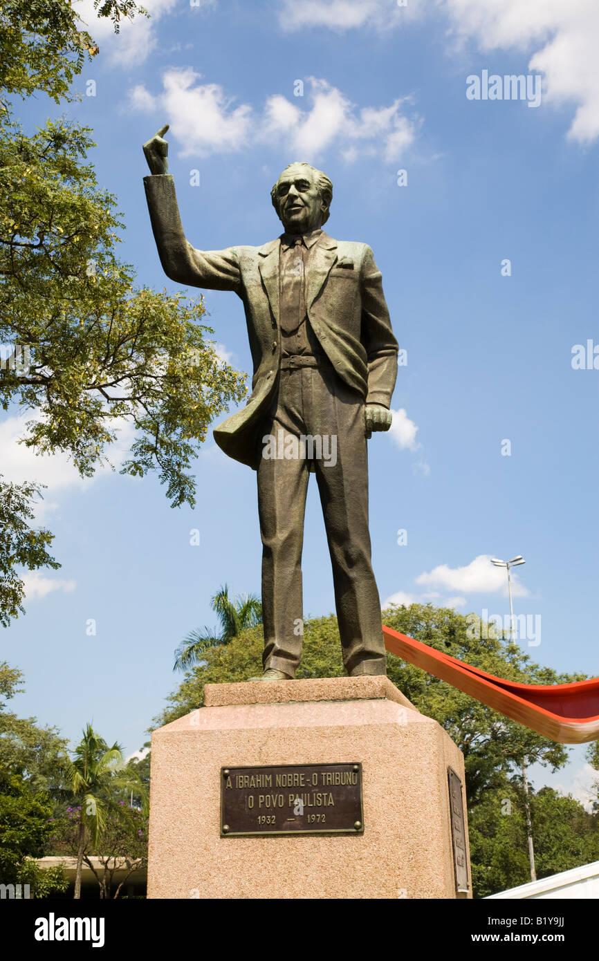 Statue of Ibrahim Nobre, Sao Paulo, Brazil Stock Photo
