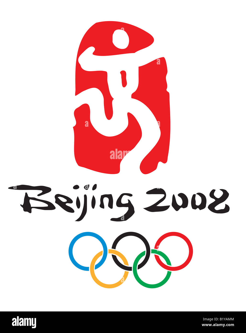 China Beijing Olympic Games official logo - Stock Image