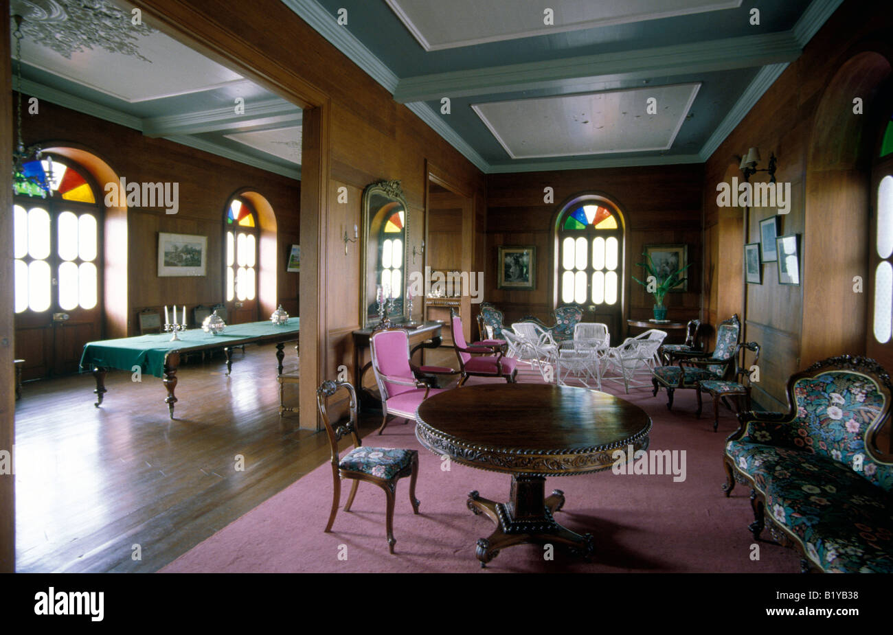 mauritius bel ombre chateau interior - Stock Image