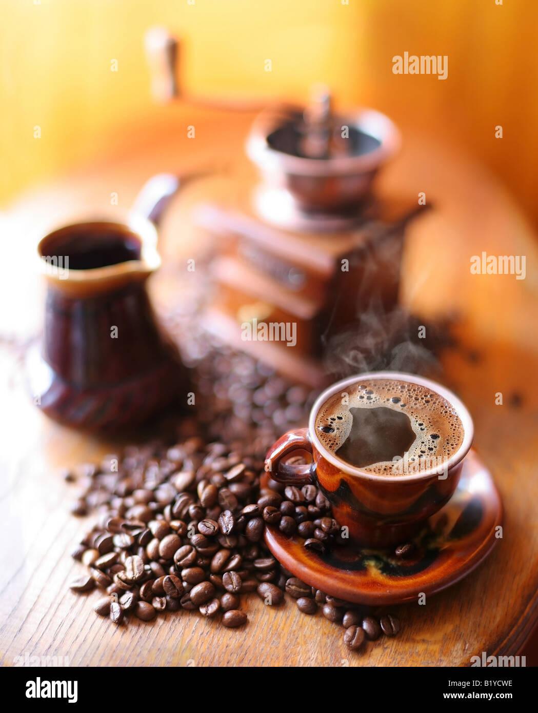 coffee still life - Stock Image