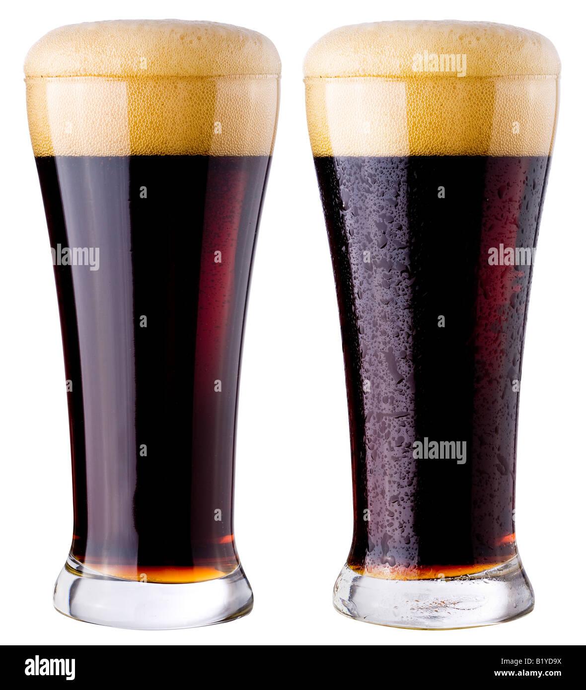 Black beer - Stock Image