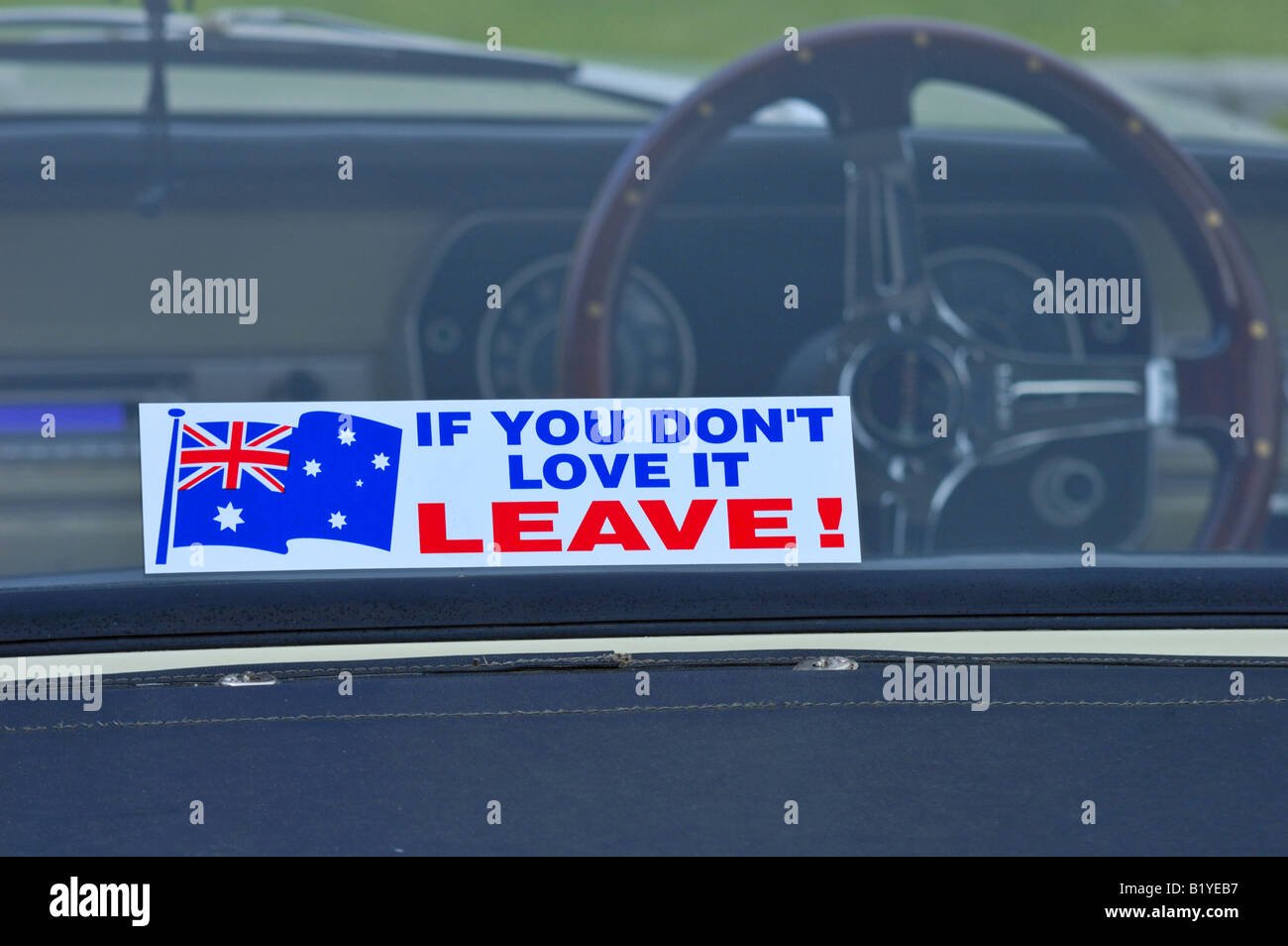 Love it or leave! - Stock Image