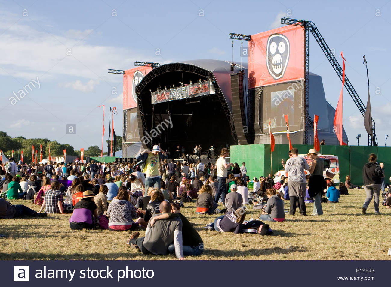 crowds at the mighty boosh festival at the hop farm in kent england - Stock Image