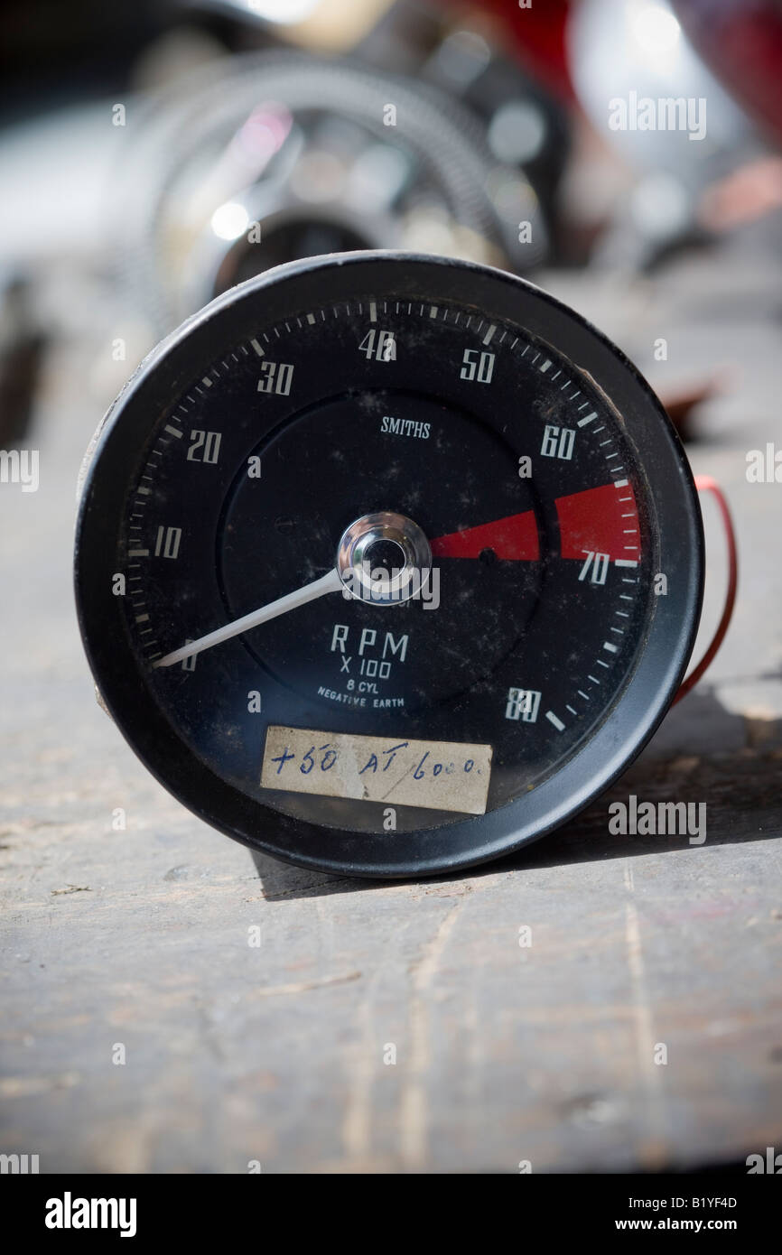 RPM Gauge Ford GT40 PO1085 Classic Sports Car - Stock Image