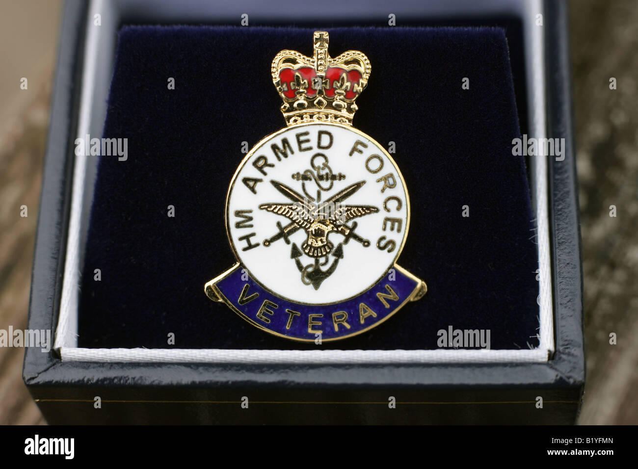 HM Armed Forces No 1 Parachute Training School Veteran lapel pin badge .